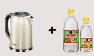 Как почистить чайник от накипи уксусом — народные советы