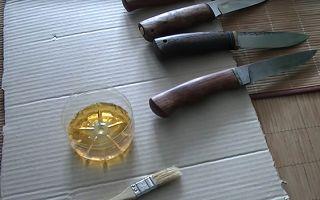 Инструкция по пропитке рукояти ножа льняным маслом