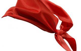 Выкройки и размеры пионерского галстука — как сшить самостоятельно
