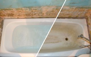 Реставрация чугунных ванн в домашних условиях