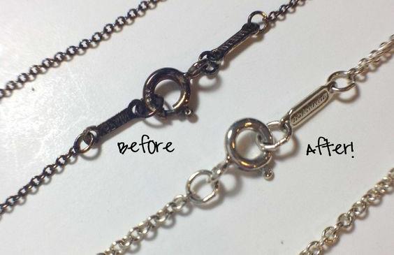 Методы очистки серебряной цепочки