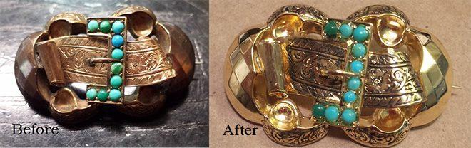 Как почистить  золото с фианитами и не поцарапать