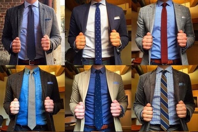 Разные длины галстука