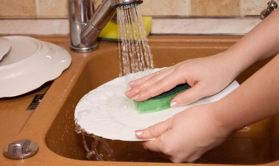 Отмывание тарелок