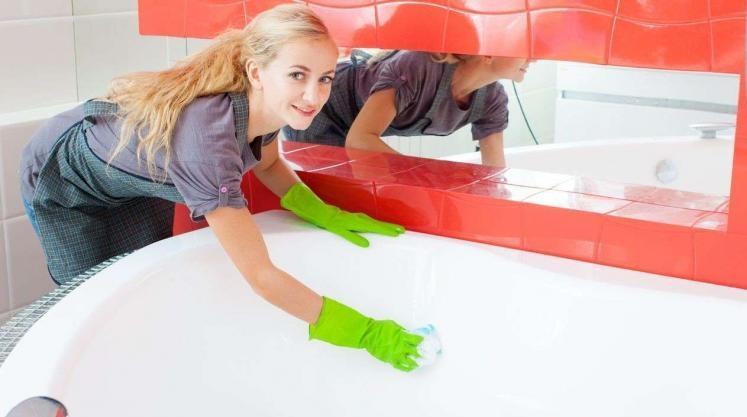 Отмыть акриловую ванну