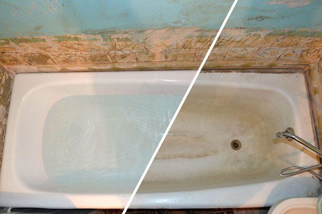 Чем покрасит чугунную ванну в домашних условиях