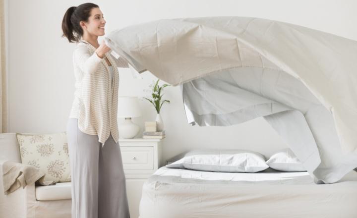 Глажка постельного белья
