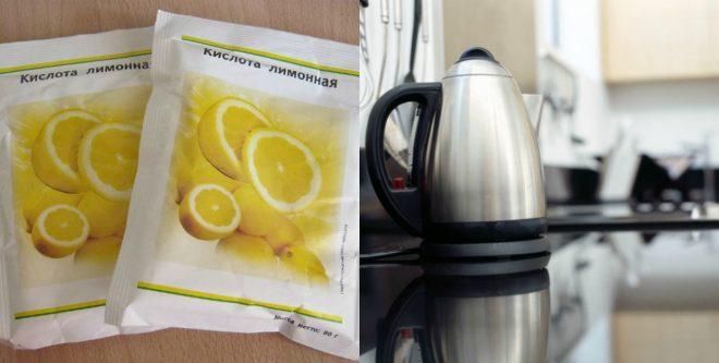 Лимонная кислота и чайник