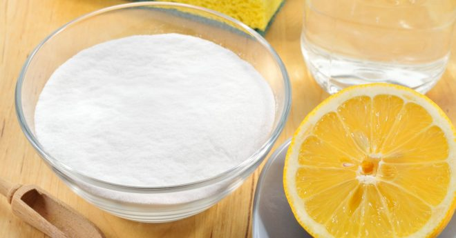 Смесь из соды и лимонного сока