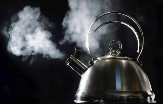 Очистить чайник внутри