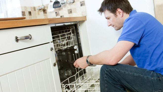Запуск посудомоечной машины