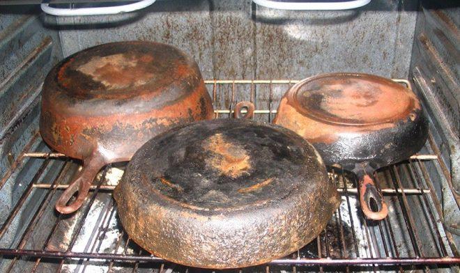 Ржавчина на сковороде
