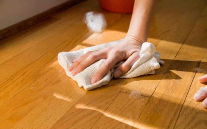 Отмыть клей с пола