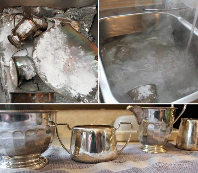 Чем чистить столового серебра в домашних условиях