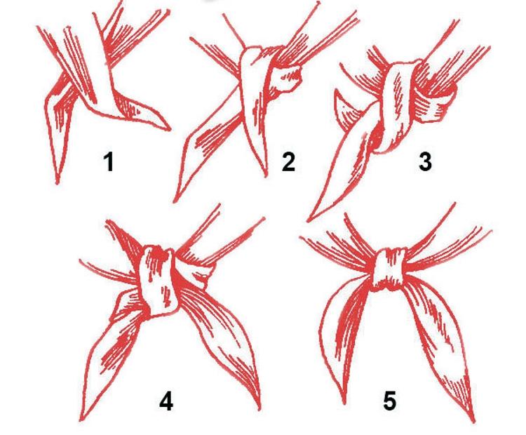 Как сшить пионерский галстук